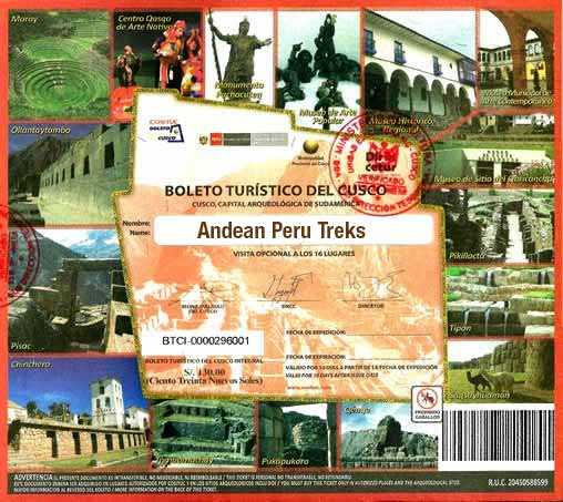 Cusco Tourist Ticket Information